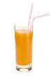 Peach juice in a glass