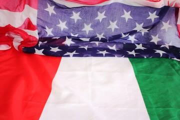 LE BANDIERE ITALIANA E STATUNITENSE