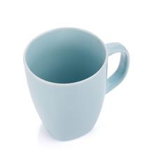 Light blue coffee cup