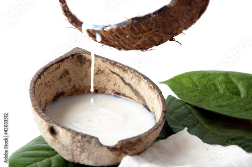 with fresh coconut fragrance