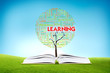 Book AND GROWING word cloud TREE for business concept, education