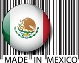 Made in Mexico barcode. Vector illustration