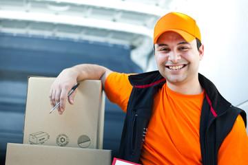 Happy delivery boy