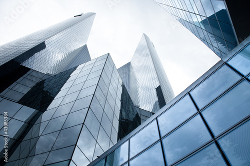 Leinwandbild Motiv Hochhäuser - Banken