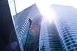 Hochhäuser - Büro mit Gegenlicht