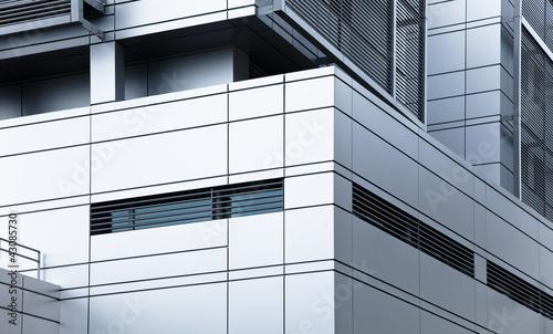 Leinwanddruck Bild modernes Verwaltungsgebäude - Büro