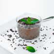 mousse au chocolat with peppermint
