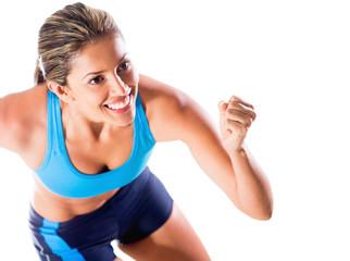 Happy female athlete