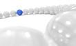 3D Kugel Kreis Fokus - blau weiß 1