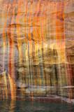 Streaked Cliff Wall at Pictured Rocks National Lakeshore poster