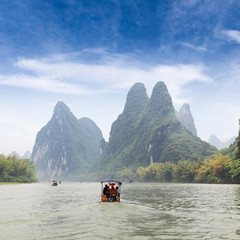 beautiful scenery of lijiang river