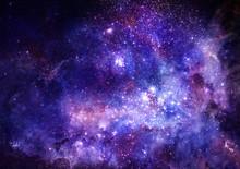 Obłok gazu mgławica w głębokiej przestrzeni kosmicznej