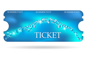 Entrance ticket with special marine design