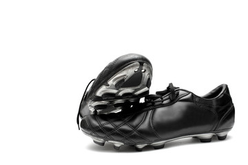Soccer shoes isolated on white