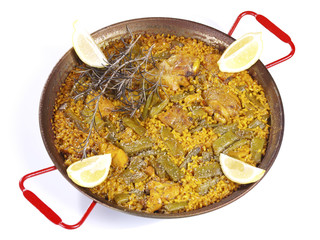 Paella in a pan