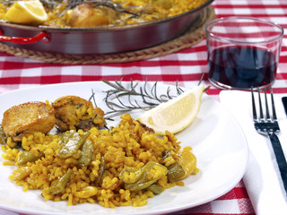 Paella in a Restaurant