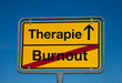 Wechselschild BURNOUT - THERAPIE