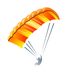vector icon parachute