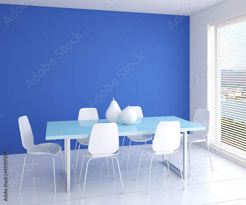 Modern dining-room interior.