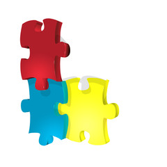 Jigsaw isolated on white background