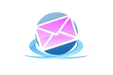 Mail service design logo