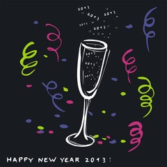New Year 2013 Toast- Greetings