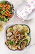 Grilled vegetables and salad with tamarillos