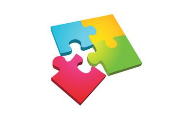 Jigsaw isolated on white background
