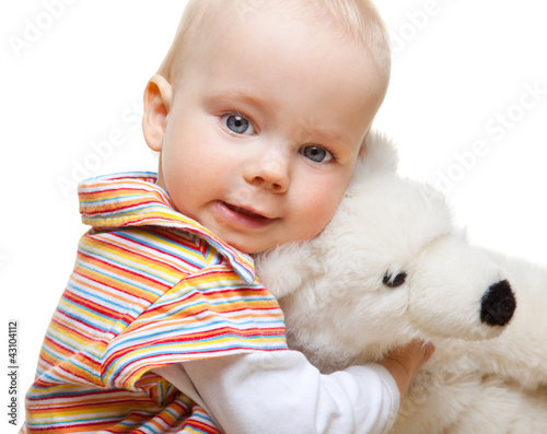 Fototapeten,baby,kind,baby,plüschhase