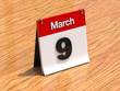 Calendar on desk - March 9th