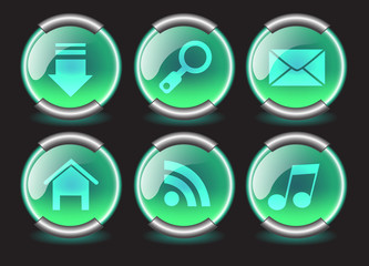 navigation buttons for web, vector