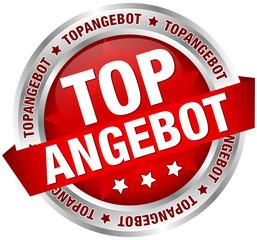 """Button Banner """"Topangebot"""" rot/silber"""