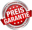 "Button Banner ""Preisgarantie"" rot/silber"