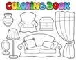 Coloring book various furniture 1