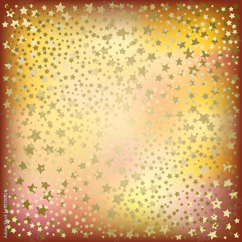 Christmas golden stars abstract background