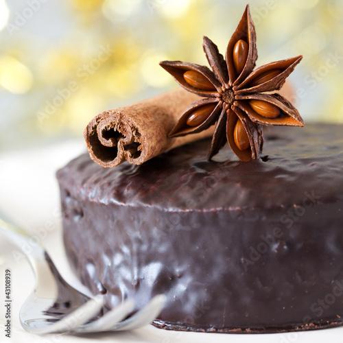 frischer Schokoladenkuchen