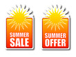 Summer sale Summer offer badges