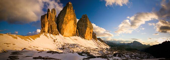 Tre Cime di Lavaredo Tramonto Dolomiti