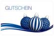 Gutschein Christbaumkugeln blau/silber