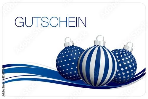 Gutschein christbaumkugeln blau silber von jan engel for Christbaumkugeln blau