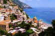 View of the town of Positano on the Amalfi Coast of Italy