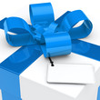 gift box blue ribbon