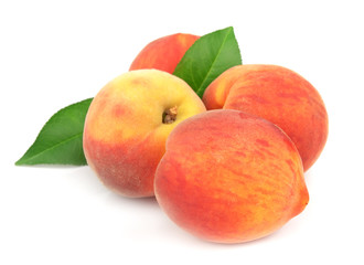Ripe, juicy peaches