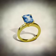 gold sapphire