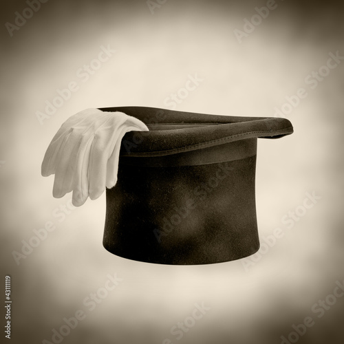 magicians top hat and gloves
