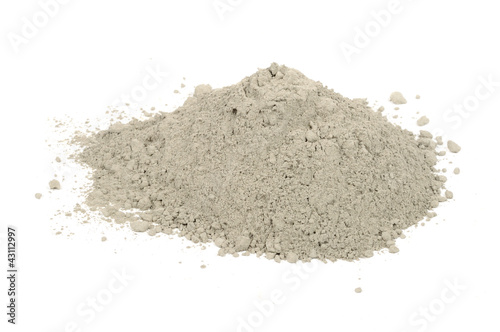 Pile of Cement Isolated on White Background