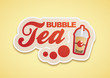 Bubble Tea Logo Rot