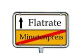 Schild - Minutenpreis / Flatrate