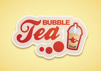 Bubble Tea Logo Rot