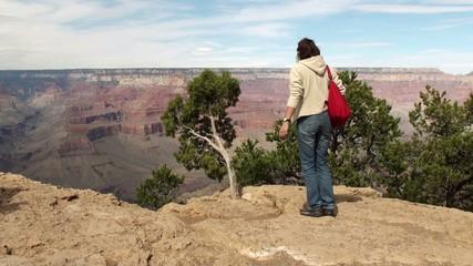 Tourist in the Grand Canyon (Arizona, USA)